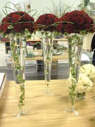 decoration for table. Stunning Table Centerpiece Decoration Using Flowers For Tall Vases : Awesome Wedding Design L