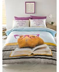 hashtag geraldine guinea pig double duvet cover set