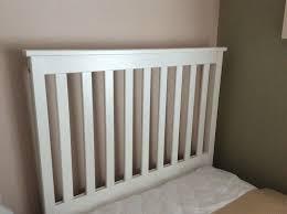 single bed headboard white wood