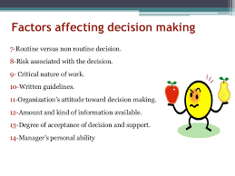 The Influence of Decision Making in Organizational Leadership and