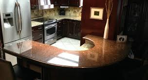 santa cecilia and suede brown granite with ogee edge profile