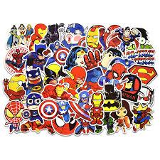 50pcs Super Hero Stickers Marvel Graffiti The Avengers