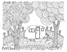 Fifth Wheel Travel Trailer Coloring Pages Wwwpicturesbosscom