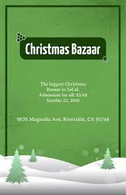 Christmas Bazaar Flyer Design Template With A Christmas Background 867d