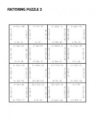 personable factoring puzzle practice version mrmillermath trinomials a 1 worksheet answers factorpuzzlechall factoring trinomials a 1
