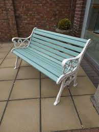 garden bench red refurbished free delivery most of uk 1 of 7