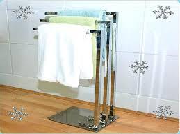 floor standing towel rack wood free racks image of bed bath beyond tow