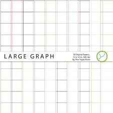 Large Graph Paper Background 20 Digital Papers