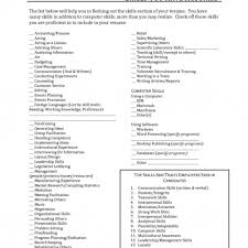 Bistrun Resume Examples With Skills Section Skills Section Of