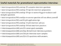 top  promotional representative interview questions and answers