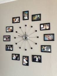 Collage Design On Wall Photo Collage Wall Clock Frame Wall Collage Unique Wall