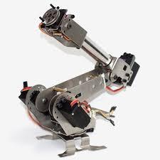 <b>New Arrival</b> DIY <b>6DOF</b> Aluminum Robot Arm 6 Axis Rotating ...