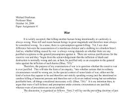 war ever justified essay is war ever justified essay