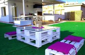 furniture made of pallets. Outdoor Furniture Made With Pallets Pallet Ideas Patio White Painted Pink Garden From Instructions Of