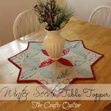 winter seeds table topper label