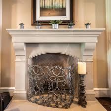 Amhurst Cast Stone Fireplace Mantel