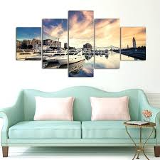 boat wall art 5 pieces canvas photo prints city sea boat wall art picture canvas paintings boat wall art