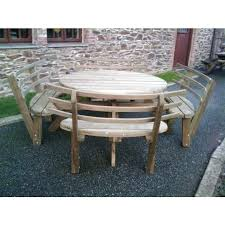 round wood picnic table round picnic bench with back rests wooden picnic table with detached benches wooden garden picnic table and bench