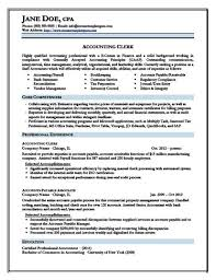 Accountant Resume Format Pdf Resume Template Sample