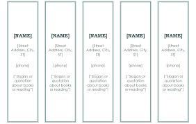Free Bookmark Templates Free Bookmark Templates Microsoft Word Double Sided Bookmark
