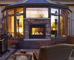 two sided indoor outdoor gas fireplace lovely double sided