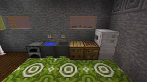 decorate your kitchen using a furnace cauldrons with water and a chest make kitchens functional