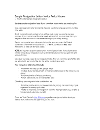 Formal Resignation Letter Example Formal Resignation Letter Sample With Notice Period