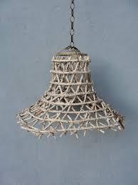 beach pendant light. Basket Pendant Light, Beach Finds, Fish Net, Rustic Ceiling Home Decor, Swag Hanging Light
