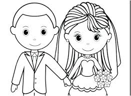 Printable Wedding Dress Coloring Pages Free Cake For Weddings