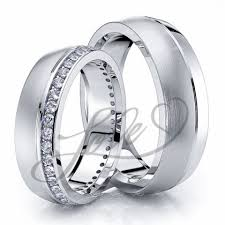 hers and hers wedding bands. 0.60 carat 6mm elegant matching his and hers diamond wedding ring set bands b