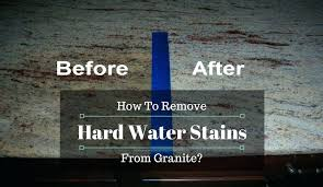 remove water stains from granite things you will need to remove hard water stains from granite