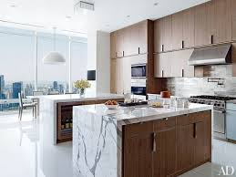 kitchen modern. Sleek Stone And Rich Wood Kitchen Modern T