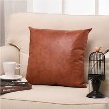 whole european and american style cushion cover living room sofa suede imitation leather pillow case cushion