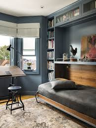 home office with murphy bed. San Francisco Modern Murphy Bed Home Office Transitional With Stool Battery Powered Wall Clocks Art U