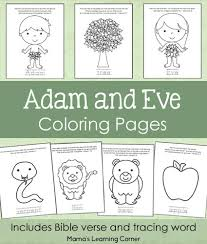 Small Picture Adam and Eve Bible Coloring Pages Mamas Learning Corner