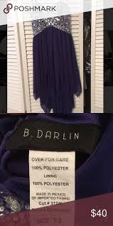 B Darlin Size Chart Purple Jewel Dress Beautiful Jewels On The Top High Low