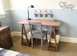 you can build yourself a solid wood sawhorse desk for a fraction of retail costs full plans include everything you need to build for yourself ana white build office