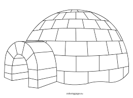 Small Picture Igloo Coloring Page
