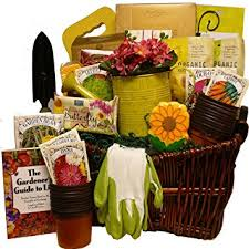 garden gift basket. Art Of Appreciation Gift Baskets Gourmet Gardener Basket Useful Garden Tools And Treats Amazon.com