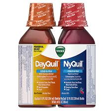 Vicks Dayquil Nyquil Cold Flu Relief Combo Pack Liquid Cherry