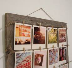 33 cool design ideas hanging picture frames shabby brown wooden pictures frame with rope and photo
