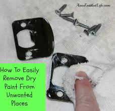 how to easily remove dry paint from unwanted places 1 jpg