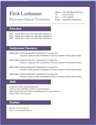 Word Professional Resume Template | Nfcnbarroom.com