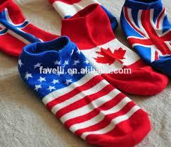 Wholesale Cotton Flag Boat Socks For Men And Women | Design ...