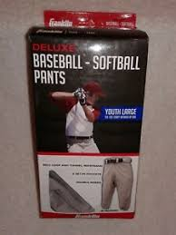 Details About Franklin Deluxe Baseball Softball Pants Size Youth Large Grey