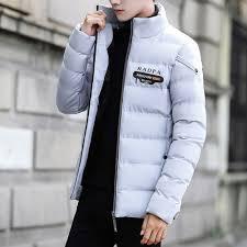 new hot 2017 autumn winter coat men black puffer jacket warm overcoat parka outwear cotton padded hooded