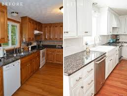 white painted kitchen cabinets before and after. Fine And Charming Painting Kitchen Cabinets White And Brown Painted  Before And After Diy Throughout D