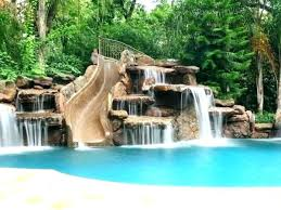 inground pool waterfalls. Inground Pool Waterfalls Waterfall Love This With If There Was A Way To B