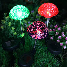 solar mushroom garden lights talentguide