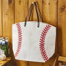 two s company baseball tote bag
